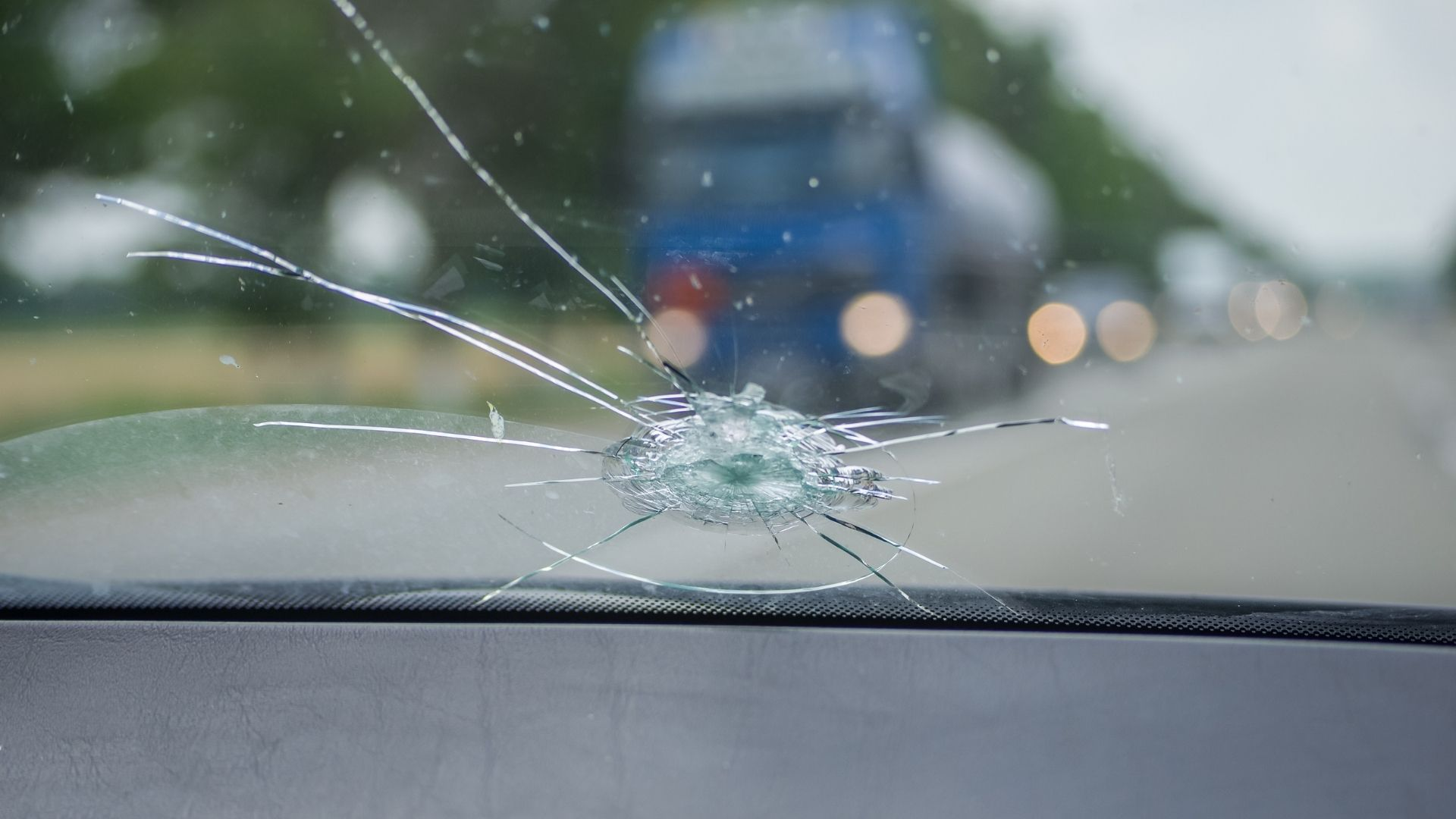 Chipped windscreen